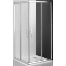 ROLTECHNIK PROXIMA LINE PXS2L/800 sprchový kout 800x1850mm čtvercový, levá část, s dvoudílnými posuvnými dveřmi, rámový, brillant/transparent