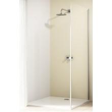 HÜPPE DESIGN ELEGANCE SW 800 boční stěna 800x2000mm pro posuvné dveře, jednodílné s pevným segmentem, stříbrná lesklá/čirá anti-plague 8E2706.092.322