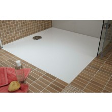HÜPPE EASY STEP vanička 800x900mm, litý mramor, bílá