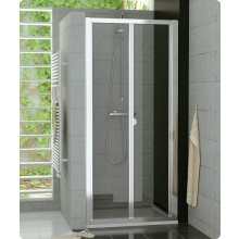 Zástěna sprchová dveře Ronal sklo TOP-line 750x1900 mm matný elox/durlux AQ