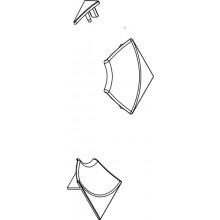Příslušenství k vaničkám Ravak - Sada pro krycí lištu 6mm