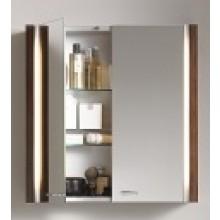 Nábytek zrcadlová skříňka Duravit 2nd floor 80x62x20 cm dub antracitový