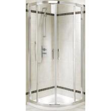 KOLO GEO-6 sprchový kout 900x900mm, posuvné dveře, čtvrtkruh, stříbrná lesklá/Prismatic
