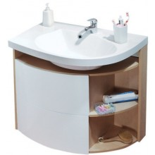 Nábytek skříňka pod umyvadlo Ravak SDU Rosa Comfort L 780x550x680 mm strip onyx/bílá