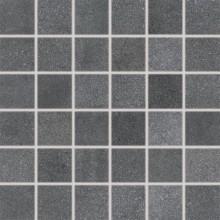 RAKO FORM mozaika 30x30cm, lepená na síťce, tmavě šedá