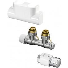 CONCEPT SADA 2 připojovací sada Multiblock T/UNI SH pro koupelnová otopná tělesa, rohová, bílá
