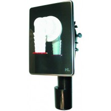 HL zápachová uzávěra DN40/50 podomítková vodní, pro pračku, myčku, nerez ocel/polyethylen