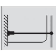 Příslušenství ke sprchovým koutům Huppe - příčná vzpěra (zeď/sklo s válcovitou čelistí) pro sklo 6-8mm chrom