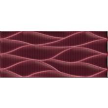NAXOS PIXEL dekor 26x60,5cm, fascia wave redwine 74407