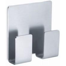 ZACK APPESO dvojháček na ručník 5,5x5,8cm, samolepící, nerez ocel
