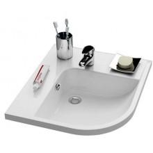 RAVAK BE HAPPY speciální umyvadlo rohové 570x500x185mm z litého mramoru, levé s otvorem, bílá