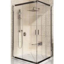 RAVAK BLIX BLRV2K-90 sprchový kout 880-900x1900mm rohový, posuvný, čtyřdílný satin/grafit 1XV70U00ZH