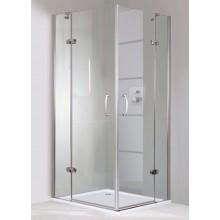CONCEPT 300 sprchové dveře 800x1900mm křídlové, s pevným segmentem, pravé, stříbrná/čiré sklo PT432401.092.322