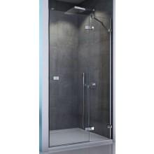 SANSWISS ESCURA ES13 sprchové dveře 1200x2000mm jednokřídlé, s pevnou stěnou v rovině, levé, aluchrom/čiré sklo