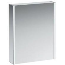LAUFEN FRAME 25 zrcadlová skříňka 600x150x750mm, dvířka vpravo, s LED osvětlením, hliník