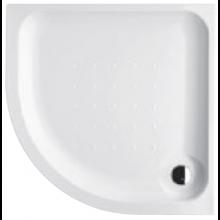 DEEP BY JIKA akrylátová sprchová vanička 800x800x80mm čtvrtkruhová, R550mm, samonosný rám, bílá