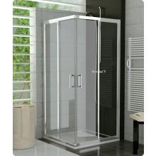 SANSWISS TOP LINE TOPAC sprchový kout 900x900x1900mm s dvoudílnými posuvnými dveřmi, rohový vstup, aluchrom/čiré sklo Aquaperle