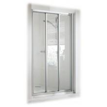 DOPRODEJ CONCEPT 100 sprchové dveře 800x800x1900mm posuvné, rohový vstup, 3 dílné s pevným segmentem, bílá/matný plast PT2012.055.264