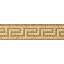 VERSACE VANITAS GRECA listela 9,8x39,4cm, oro/noce/gold