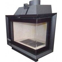 KRETZ krbová vložka 7-13kW rohové sklo černá F 107