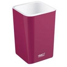 NIMCO ELI pohárek na kartáčky 75x75x112mm fialová burgundská EL 3058-45