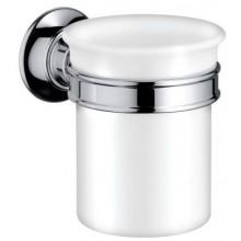 AXOR MONTREUX sklenička na ústní hygienu Ø87mm, chrom/porcelán 42134000