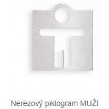 AZP BRNO Z 926 piktogram WC muži, nerez