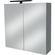 EDEN ANNA N zrcadlová skříňka 600x165x600mm, s LED osvětlením, bílá/lesklá