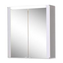 Nábytek zrcadlová skříňka Jokey Tromsö vč.osvětlení 68,5x63x17 cm čelo aluoptika korpus bílý