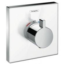 HANSGROHE SHOWERSELECT GLAS termostatická sprchová baterie 156x156mm podomítková, vrchní sada, bílá/chrom