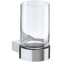 KEUCO PLAN držák na skleničku 116mm, včetně skleničky, chrom/sklo