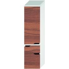 JIKA MIO vysoká skříňka 363x340x1485mm 2 zásuvky, levá, bílá/ořech 4.3419.3.171.506.1