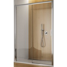 SANSWISS TOP LINE TBFS2 G sprchové dveře 1200x1900mm, jednodílné posuvné s pevnou stěnou v rovině, pevný díl vlevo, matný elox/sklo Durlux