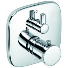 KLUDI AMBA sprchová baterie 170x170mm, podomítková, termostatická, vrchní díl, chrom