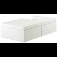 ESPRIT skříňka 800x500x180mm pod umyvadlo, závěsná, odkládací místo vlevo, bílá