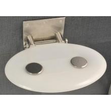 RAVAK OVO P sedátko do sprchového koutu 410x350x130mm plastové, bílá/průsvitná B8F0000001