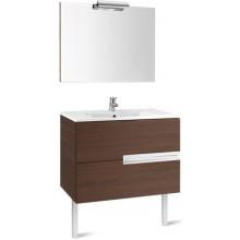 Nábytek sestava Roca Pack Victoria-N skříňka s umyv.+zrcadlo s osvětlením 80 cm wenge