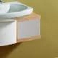 Nábytek skříňka pod umyvadlo Roca Senso dvířka+bočnice nízká 33,5x49,1x19,1 cm šedá metalíza