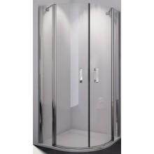 SANSWISS SWING-LINE SLR sprchový kout, 800x800x1950mm, R550mm, čtvrtkruhový, dvoukřídlý, bílá/sklo Cristal perly