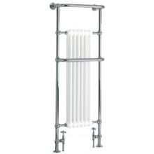 HERITAGE CABOT koupelnový radiátor 631W s držákem na ručníky, chrom/bílá