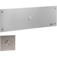 SANELA SLW 04PA splachovač WC 500x170mm, s druhým tlačítkem, pro tělesně postižené, nerez