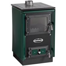 KVS MORAVIA TYP 9114 SOFIE kamna na pevná paliva 9kW, zelená/chrom