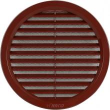 HACO VM 150 větrací mřížka prům. 151mm, kruhová, se síťovinou, hnědá
