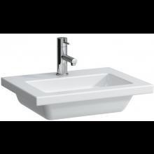 LAUFEN LIVING SQUARE nábytkové umývátko 500x380mm s otvorem, bez přepadu, bílá
