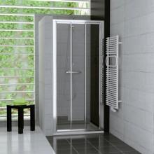 Zástěna sprchová dveře Ronal sklo TOP-line 1200x1900 mm bílá/cristal perly AQ