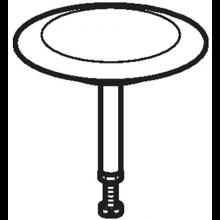GEBERIT zátka odpadního ventilu, lesklý chrom 241.715.21.1