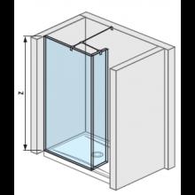 JIKA PURE boční stěna 79,5cm transparentní 2.6842.2.002.668.1