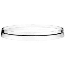 LAUFEN KARTELL BY LAUFEN plastový disk 183mm pro umyvadlové a bidetové baterie a držák toaletního papíru/nástěnnou poličku, transparentní 3.9833.5.084.001.1