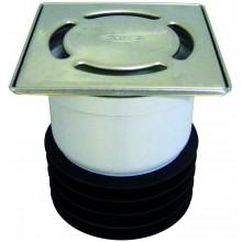 HL vtok DN110 nástrčný, ze zápachovým uzávěrem, polypropylen/nerez