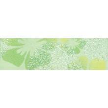 Listela Rako Candy 20x6 cm sv. zelená s květy